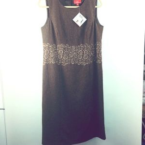 Oscar de La Renta Dress NWT Sz 12 brown